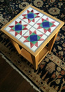 ammish quilt pattern end table
