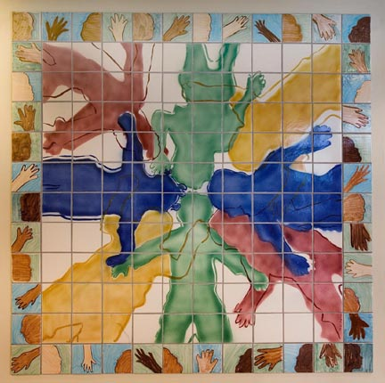 Achievement Centers for Children Ceramic Tile Lobby Mural by George Woideck of Artisan Arcitectural Ceramics
