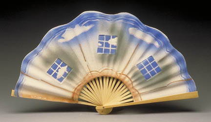 Porcelain Chinese Fan by George Woideck